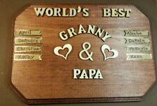 Anniversary Personalized Wood Plaque Gift For Grandpa/Grandma Nany/Papa+Names