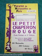020218 AFFICHE théâtre marionnette Chaperon rouge conte guignol YAKOV ROL 61