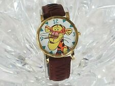 "Vintage Disney ""Pooh"" Collection Tigger TimexBrown Leather Band  Watch (331)"
