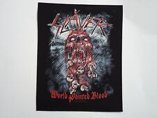 SLAYER THE WORLD PAINTED BLOOD BACK PATCH