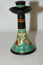 Scarce Gouda Zuid Pottery GATONI 1548 Candlestick Holland art Nouveau