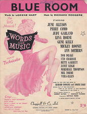 Blue Room:Words and Music-1926-Lorenz Hart-Sheet Music