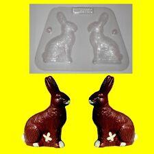 Schokoladenform-Hohlfigur-Gieß-Schüttelform-Ostern Hase hockend mit Fell 2x8cm