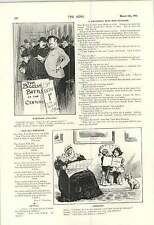 1900 Doctor Doing His Best Cartoon How Will Granny Get To Heaven?