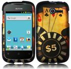 For Huawei Ascend Y H866C Rubberized HARD Case Snap On Phone Cover Ace Poker