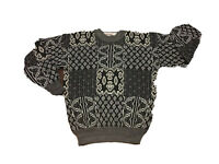 MCGREGOR Geometric Aztec Sz M Cosby Sweater Biggie Coogi Hipster Williamsburg