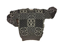 MCGREGOR Geometric Bold Sz M Cosby Sweater Biggie Coogi Hipster Williamsburg