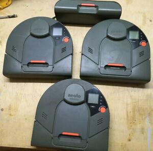 Lot of 3 Neato Robotics XV-11 Robotic Vacuum Floor Sweeper w/ (1) Charging Dock
