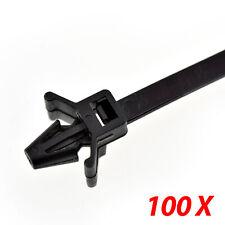"100 UV Nylon Cable Wire Zip Ties Arrow Head Push Mount  50 LBS 7.2"" Inch Black"