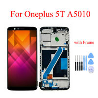 Genuine For Oneplus 5T A5010 LCD Display Touch Screen Assembly Replacement Frame