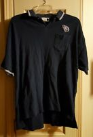 NFL Tennessee Titans Blue Polo Shirt Mens Size Large