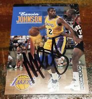 Magic Johnson Autographed Skybox Los Angeles Lakers Trading Card #358 COA CERTIF