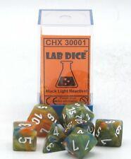 Chessex Lab Dice CHX 30001 Festive Autumn/White (Polyhedral 7-Dice Set) Series 1