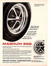 1965 MAGNUM 500 CUSTOM WHEEL ~ ORIGINAL MOTOR WHEEL CORP PRINT AD