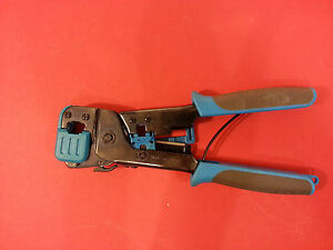 Ideal Industries Crimper Tool w/Ethernet & Telephone Line Crimpers & Cut Blade