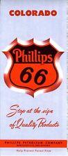 1957 Phillips Road Map: Colorado NOS