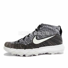 Nike WMNS Flyknit Chukka [819006-001] Women Golf Shoes Black/Grey-White