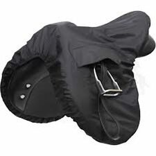 New Horse Cob Pony Shires Waterproof Ride On Saddle Cover One Size Black 232