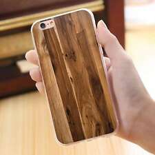 Wood Pattern Rubber Silicone Case Soft TPU Cover for iPhone Samsung Huawei HTC