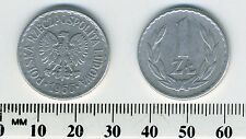 Poland 1966 - 1 Zloty Aluminum Coin - Eagle with wings open
