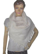Scarf Arab Arafat Keffiyeh Shemagh Cotton Palestine Men Kafiya off white color