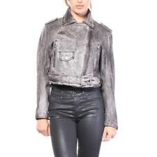NWT! $998  Diesel L-Alain Jacket Diesel Leather Jackets Women Grey   SZ S   A521