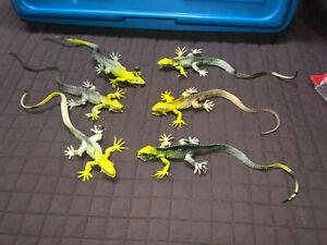 "VTG 1980s Plastic Iguana Lizard Monster Chinasaurs Figure Lot Hong Kong 10"""