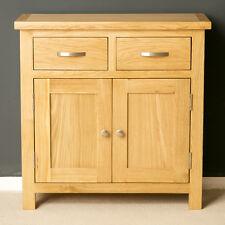 london oak mini sideboard modern oak small cupboard with drawers solid wood