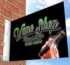 VAPE SHOP SIGN for E Cig SHOP FRONT, BLACK Aluminium Sign, Vape Liquids, Tanks