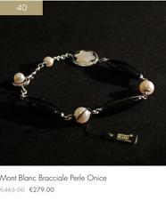Montblanc Bracciale con Perle Argento e Onice (-40% sconto fine serie!!!)