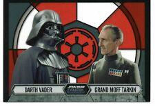 Star Wars Evolution STAINED GLASS Insert #5 / DARTH VADER & GRAND MOFF TARKIN