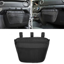 Black Interior Storage Passenger Glove Box Bag Handle Storage Pouch Mesh Pocket