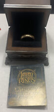 Lord Of The Rings Noble Collection Isildur's The One Ring 10K Yellow Gold Sz 9.5