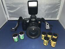 Canon EOS Rebel S II 35mm Camera + Tamron AF 28-200mm 3.8-5.6 Lense & Flash