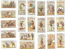 Taddy cigarette cards - CLOWNS & CIRCUS ARTISTES - Full mint condition set
