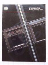 #10093 Prospekt General Electric Side-by-Side Kühlschrank ca. 1990