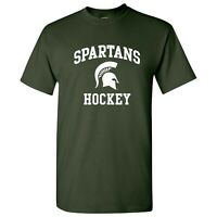 Michigan State Spartans Arch Logo Hockey T Shirt - Forest