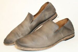 Frye 3480739-STO Chris Venetian Stone Mens 9.5 D Leather Loafers Casual Shoes