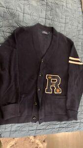 Ralph Lauren Polo Varsity Cardigan L