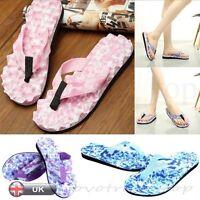 Summer Womens Ladies Beach Flip Flops Flat Slippers Massage Sandals Shoes New