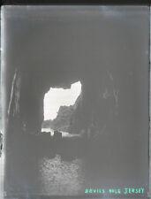 """Antique Vintage Glass Negative """"Devils Hole Jersey"""" Late 1800s 10.5cm x 8cm"""