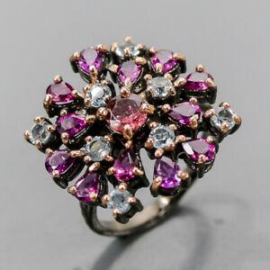 Jewelry Fine Art Tourmaline Ring Silver 925 Sterling  Size 7.75 /R167811