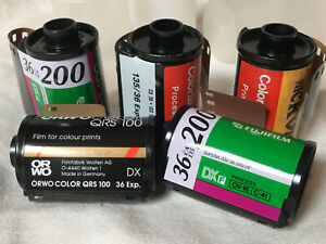 5 new rolls  135-36 Daylight Color Negative + Slide Film