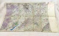 1940 WW2 Militare Map Centrale Inghilterra Oxford Birmingham UK Raf Aeronautico