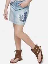 Justice Girls Size 7 Denim Embroidered Skirt New with Tags
