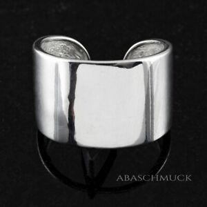 Silberring Silber 925 Ring  Verstellbar Offen Vintage R0603 🖤