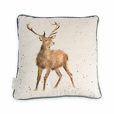 Wrendale Designs Piped Cushion Stag Wild at Heart