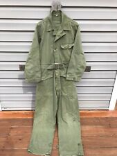 Vintage Hbt Coveralls Us Army Gas Flap Mens Small Military Workwear Dated 1948