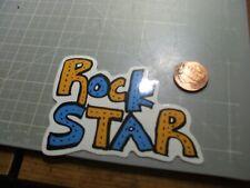 ROCK STAR MUSIC BUMPER DECAL STICKER NEW GLOSSY