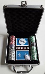 """EXCLUSIVER 100 """"Wir-Sind-Poker"""" ALU-CHIP POKERKOFFER - limitierte Auflage 49/200"""